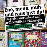 Cover der Broschüre Ene Mene Muh der Amadeu Antonio Stiftung